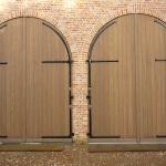 Houten garage deuren