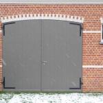 Houten garage deur