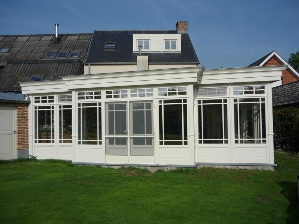 Realisatie houten veranda westerlo van de perre for Houten veranda